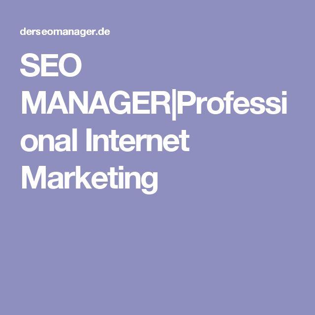 SEO MANAGER Professional Internet Marketing