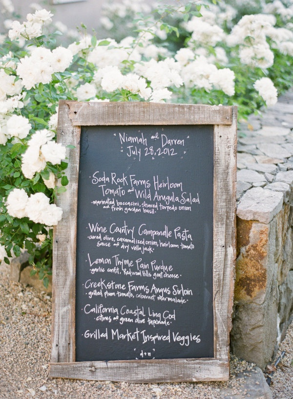 a simple chalkboard menu  Photography By / ktmerry.com, Planning By / offthebeatenpathweddings.com