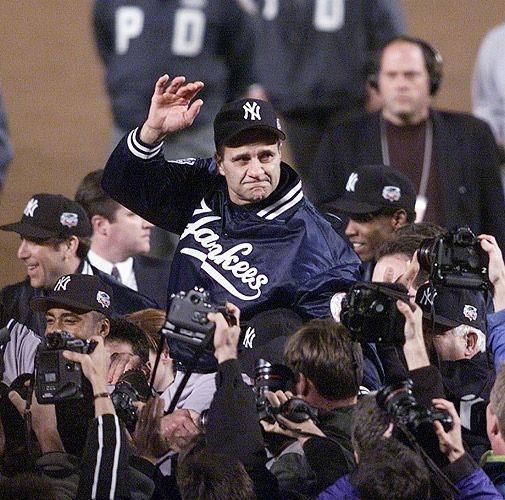 Joe Torre, New York Yankees manager, after another World Series win
