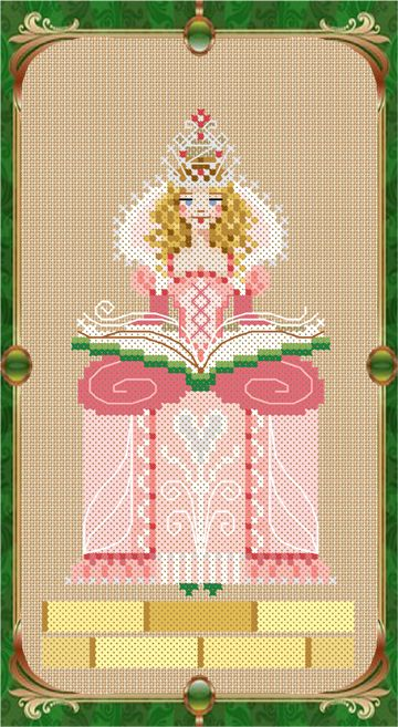 "Glinda the Good cross stitch chart by Brooke Nolan of Brooke's Books Publishing from ""The Wonderful Wizard of Oz""."