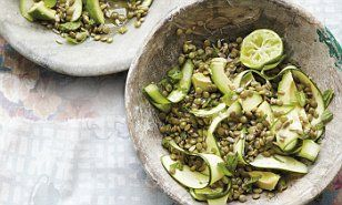Ella Woodward: Lentil, courgette and mint salad #DailyMail