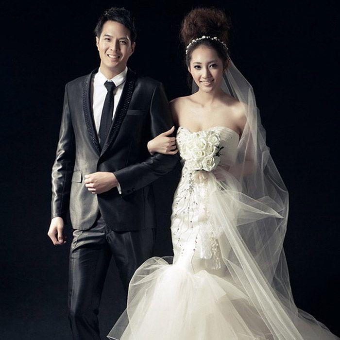 robe de mariée bustier de princesse douce de sirène de fuite 7286