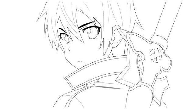 Kirito Sword Art Online Coloring Pages Sword Art Online Manga