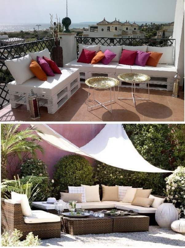 muebles para terraza chill out