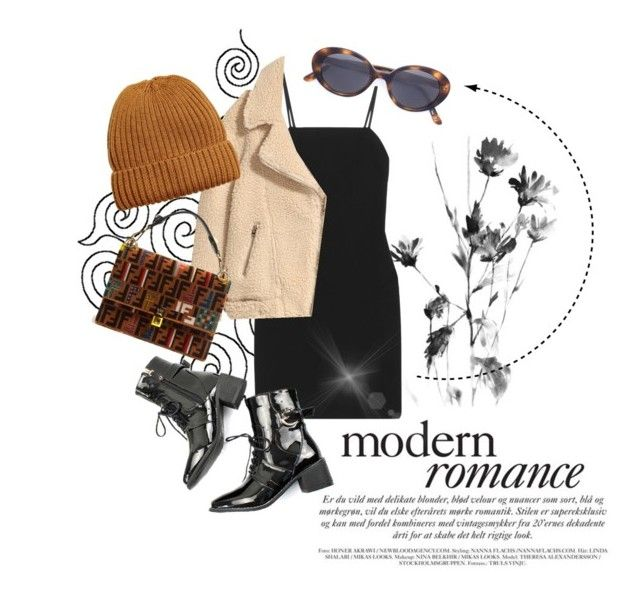 """""""Supermodel"""" by sapphire-effect on Polyvore featuring Elizabeth and James, Oliver Peoples and Fendi"""
