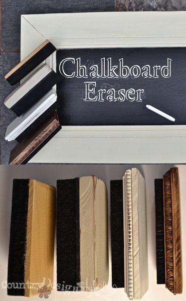 chalkboard eraser http://countrydesignstyle.com #chalkboarderasers