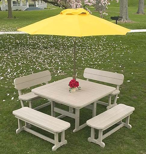 Polywood Vineyard Patio Furniture Collection. Commercial Grade POLYWOOD