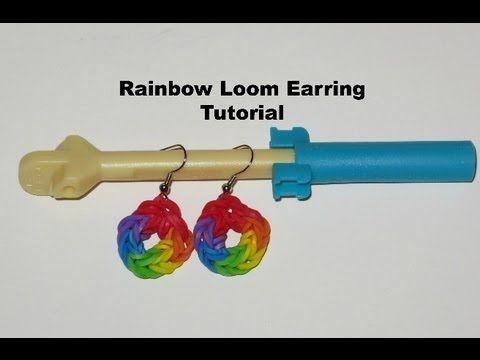 Rainbow Loom Earring Tutorial