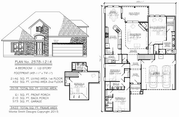 50 Foot Wide House Plans New Narrow 2 Story Floor Plans 36 50 Foot Wide Lots House Plans Southern House Plans New House Plans
