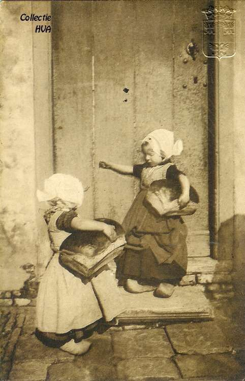 circa 1910 - back from the bakery with eight pounder loaves!