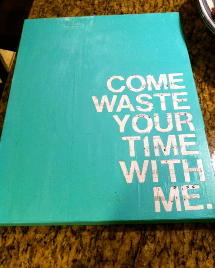 "Quote/Lyrics Canvas ""Come waste your time with me"" - Phish"