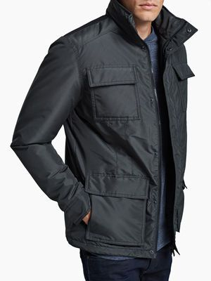 REGULAR FIT WINTER JACKET, Dark Grey, main