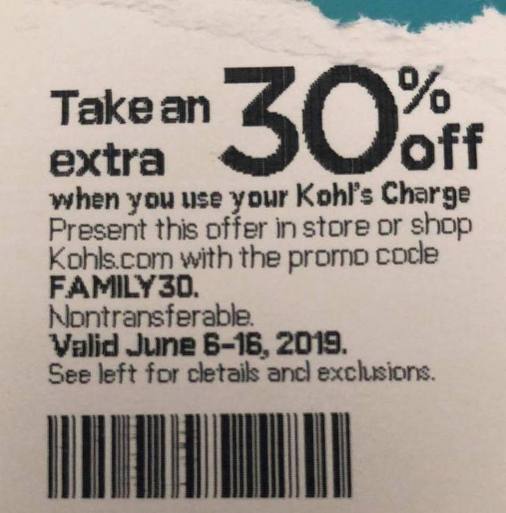 30 Off Kohls Coupon Promo Codes, Printable Coupons