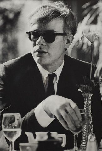 Dennis Hopper, Andy Warhol (at table), 1963 at www.meadcarney.com  #DennisHopper #MeadCarney #London #art #artgallery #Photography #AndyWarhol