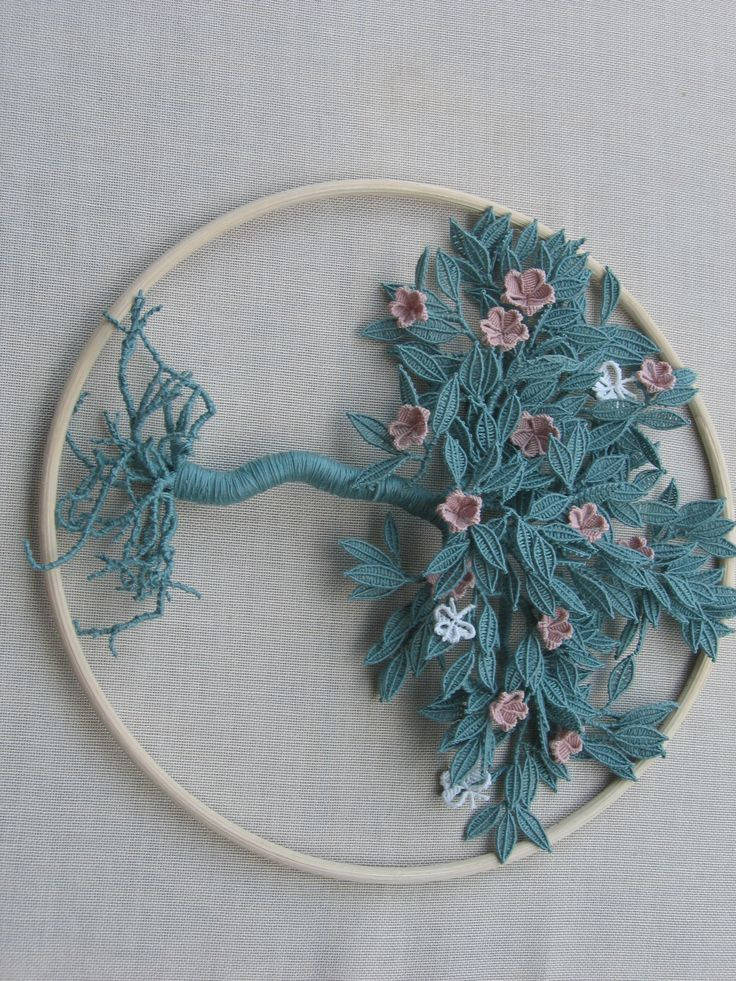 While is is macrame, not embroidery, I couldn't resist pinning this.  Magaretenspitze is the name of a technique by Margarete Naumann.  She patented it.  It produces amazing 3d designs.