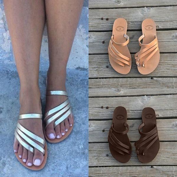Women Pu Slippers Casual Flip Flops Shoes Flip Flop Shoes Casual Slippers Pu Slippers