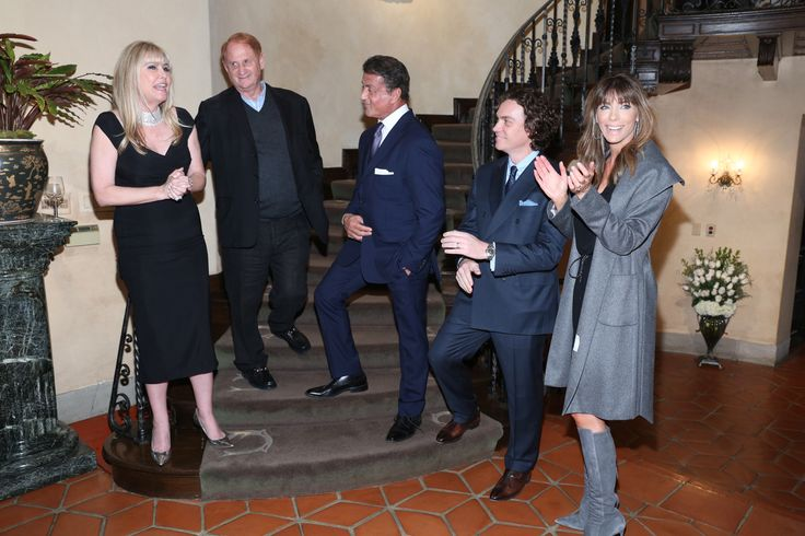 Irena and Mike Medavoy, Golden Globe winner Sylvester Stallone, Jay Fielden and Jennifer Flavin Stallone   - TownandCountryMag.com