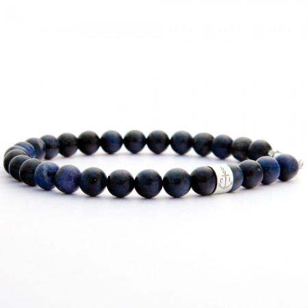 Bracelet Blue in dumortierite and sterling silver