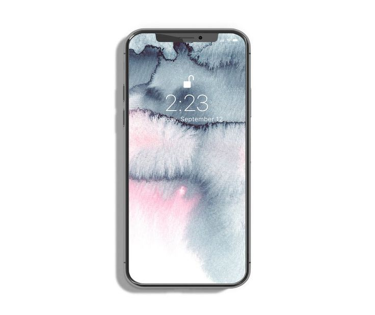 Watercolor iPhone wallpaper Grey pink background Phone