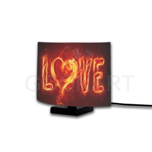 Stampa la tua lampada ovale personalizzata con lampada love, la grafica originale creata da Photostyle