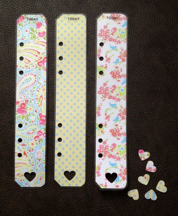 Beautiful handmade A5 filofax today markers by Charlotte