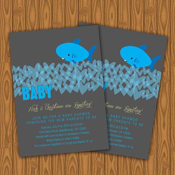 Shark Baby Shower Invitations Diy Printable By Jayarmada2