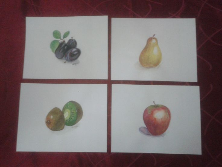 Watercolour fruits