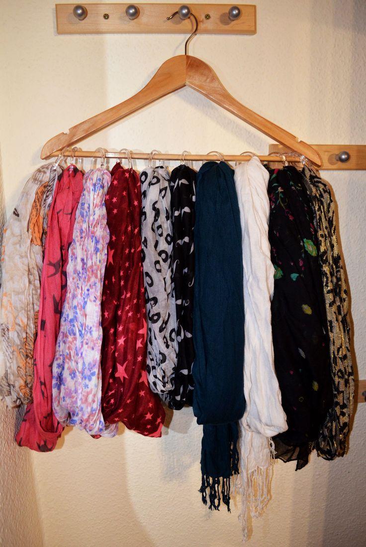 DIY Scarves Hanger – Aufhängung für Schals
