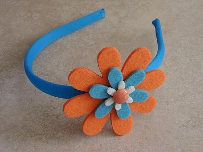Diadema flor fieltro