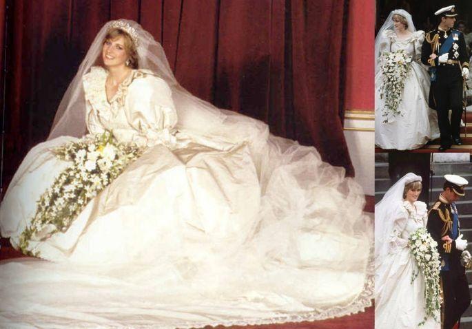 Una giovanissima principessa Diana nel giorno del suo matrimonio con il principe Carlo. Era il 29 luglio del 1981