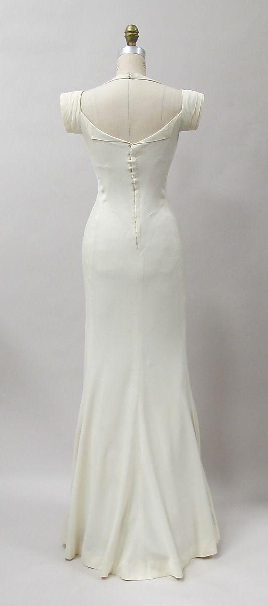 evening dress Charles James (American, born Great Britain, 1906–1978) Date: 1933 Culture: American Medium: rayon. Back