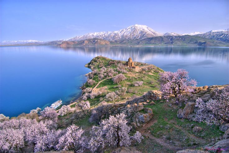 Akhtamar Island on Lake Van with the Armenian Cathedral of the Holy Cross - Van, Turkey - Wikipedia, the free encyclopedia