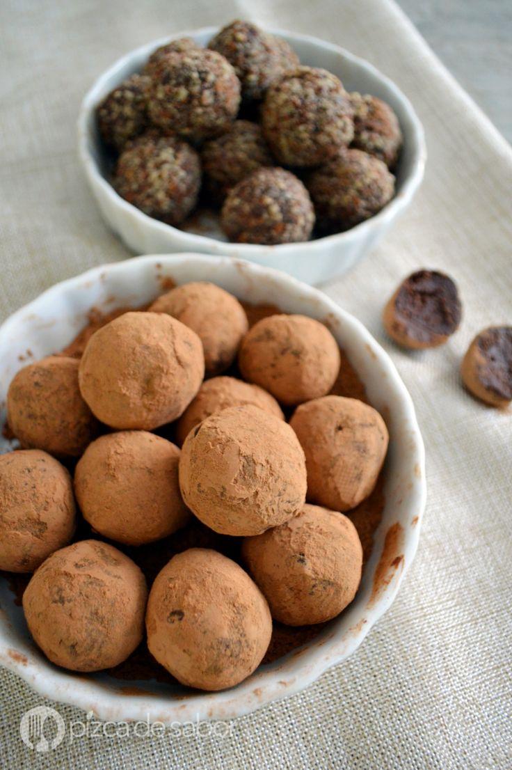 Trufas de chocolate, receta paso a paso y muy sencilla. Le encantan a chicos y grandes. www.pizcadesabor.com