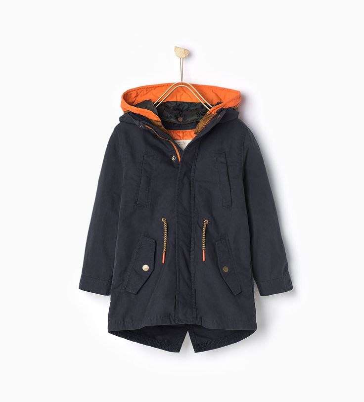 Image 2 of Parka with detachable features from Zara