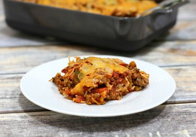 Stuffed Pepper Flavors in Half the Time: Unstuffed Peppers - Ground Beef and Bell Pepper Casserole