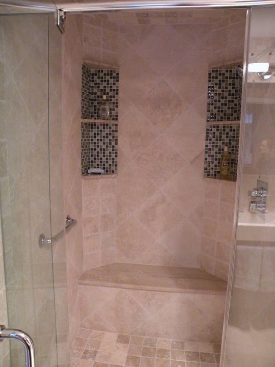 shower insert | Bathroom Tile - Mosaic Glass Tile Inserts