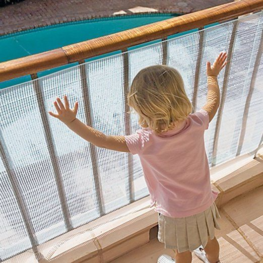 Amazon.com : Kidkusion No Climb Deck Guard, Translucent Clear : Childrens Outdoor Play Yards : Baby