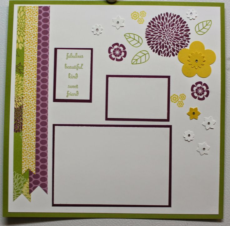 Stacy's Stampin' Spot: Two Page Mother's Day Layout Stampin Up