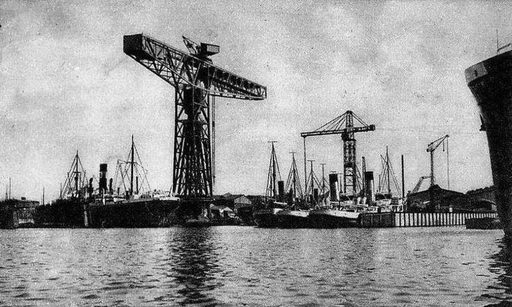 Stocznia Gdańsk SA (Schichau Werft, Kaiserliche Werft, Danziger Werft, Stocznia Gdańska im. Lenina), Gdańsk - 1925 rok, stare zdjęcia