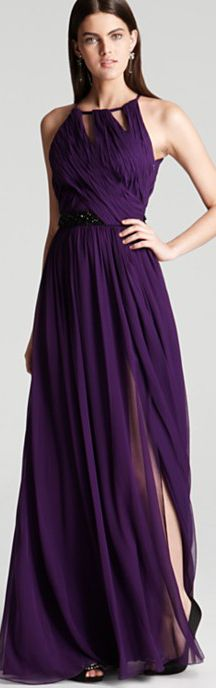 so love #purple #dress #classic !  ML Monique Lhuillier Gown