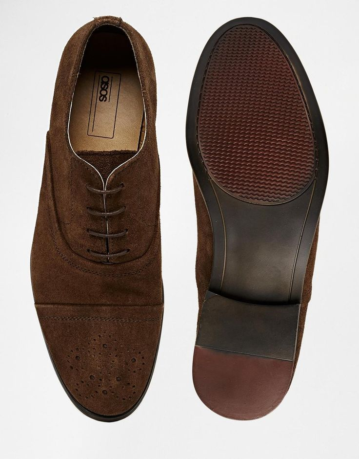 €52.94 - UK9 low stock - Image 3 ofASOS Brogue Shoes in Suede