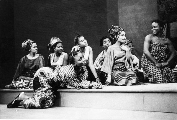 A scene from Wole Soyinka's The lion and the jewel. 1966