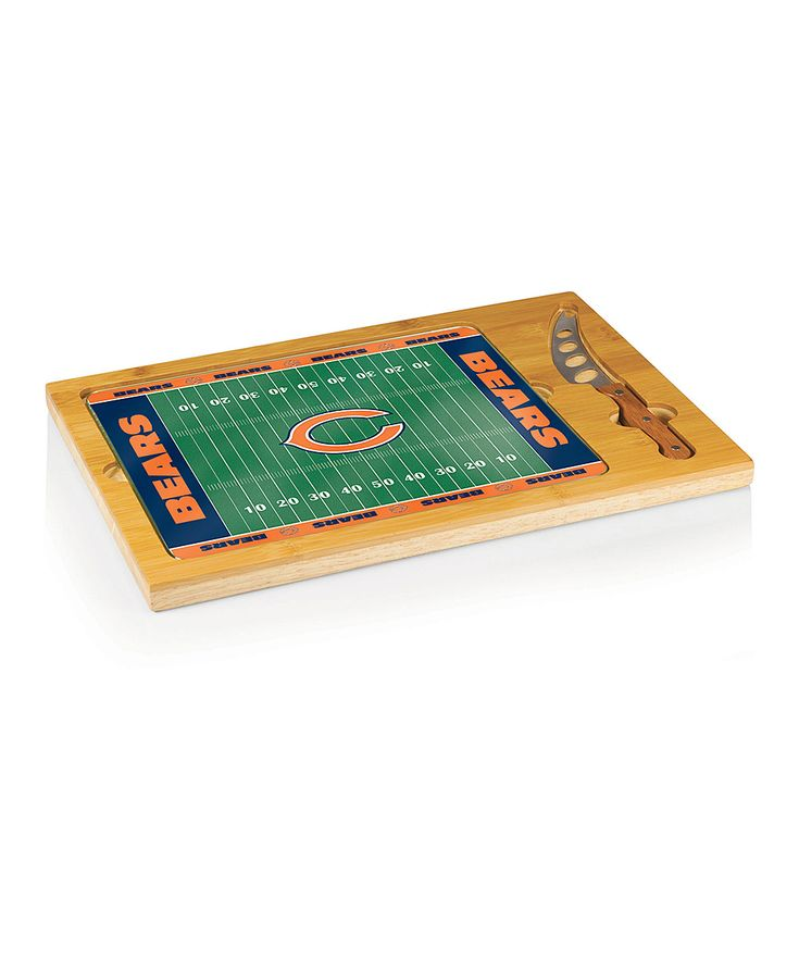 Chicago Bears Icon Cheese Cutting Board Set