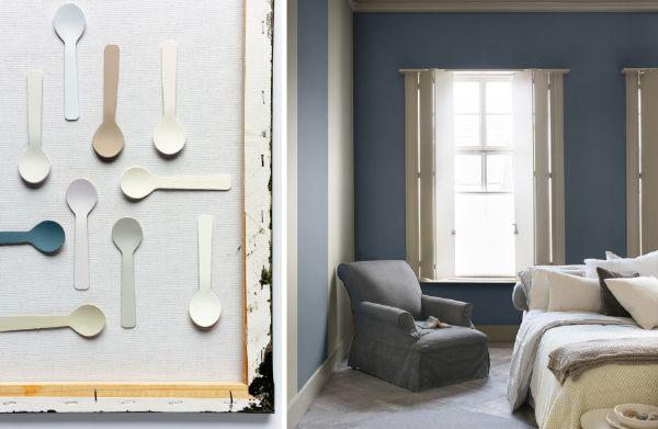 Kleurtrend 2017: Considered Luxury in de Slaapkamer - Verf Kleurenpalet Wit en Naturel Tinten voor Muren, Meubels en Woonaccessoires. (Foto Flexa op DroomHome.nl)