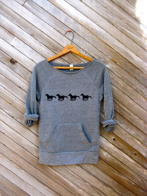 all+those+in+favor+say+NAY+Horse+Sweatshirt+door+nicandthenewfie,+$36,00