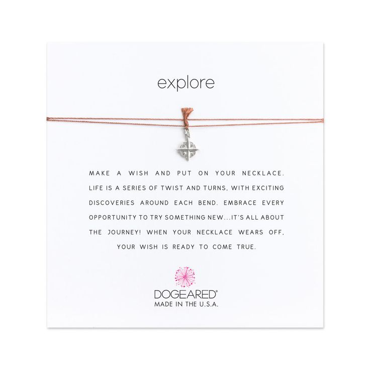explore compass necklace on tobacco silk sterling silver