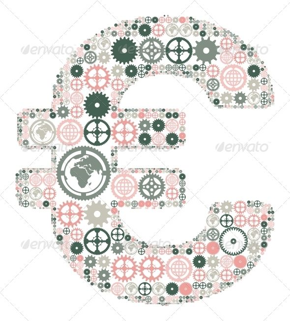 Euro Sign Made of Colored Gears  #GraphicRiver         Euro sign on a white background, made of colored gears. Vector illustration     Created: 6April13 GraphicsFilesIncluded: JPGImage #VectorEPS Layered: No MinimumAdobeCSVersion: CS Tags: abstract #account #background #bank #business #chart #clip #computer #concept #credit #currency #design #engine #exchange #finance #financial #gear #global #globe #group #ideas #mobile #office #relationship #savings #shopping #sign #symbol #vector #wealth