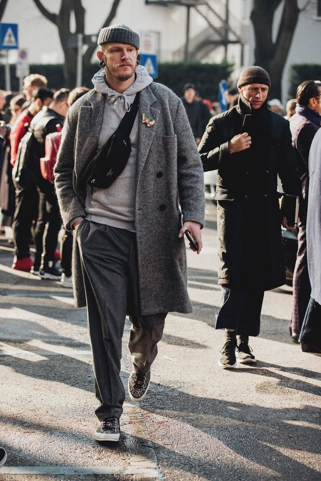 Street style from Menswear Fall/Winter 20182019 Milan