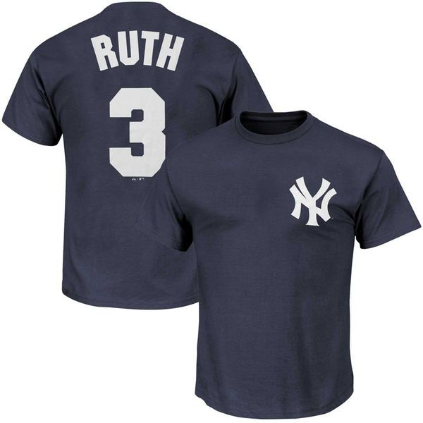 Babe Ruth New York Yankees Big & Tall Cooperstown Name & Number T-Shirt - Navy - $31.99