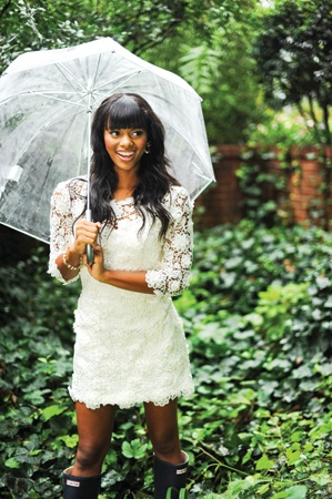 Get a clear umbrella if it might rain on your wedding day ...